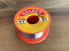 Löten - Lötzinn 60/40 mit Flussmittel 2%, 1mm, 50g