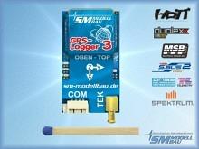 SM Modellbau GPS-Logger 3 mit Speicherkarte und Kartenleser