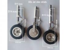 JTM XXX Oleo Struts inkl. Räder und elektrischen Bremsen