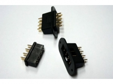 EMCOTEC Tragflächensteckverbinder 8polig, Stecker & Buchse, 2 Paar