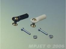 MP JET Kugelkopfanschluss, M2.0/M1.6, schwarz (6 Stück)