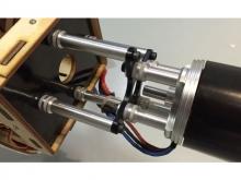 Motor-Verlängerung  ∅8mm Alu, M3,  Länge 22.5 bis 30.0mm