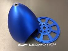 Alu-Spinner  88mm für 4-Punkt Aufnahme, blau - by Miracle