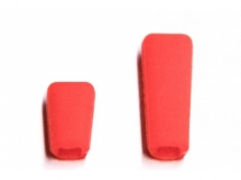 JETI Schalterkappen - rot (1x kurz, 1x lang)