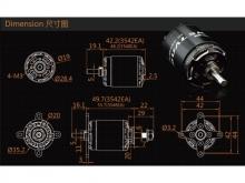LEO 2820-0540 V3 / Dualsky XM3542EA3-18