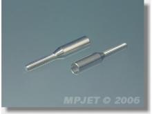 MP JET Gewindebuchse Alu für Carbon M2, Anschluss Ø3mm (2 Stück)