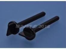 Nylon Schrauben mit Flügel-Kopf M6x60mm (5Stück, schwarz)