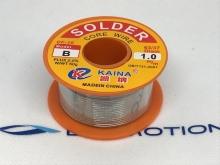 Löten - Lötzinn 63/37 mit Flussmittel 2%, 1mm, 50g - Kaina