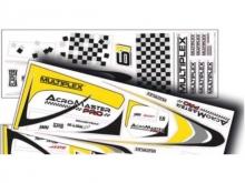 Multiplex Acro Master Pro RR - Decorbogen gelb-silber