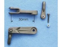 Futaba Gabelservohebel 30mm, CFK (1 Stk) Gabriel