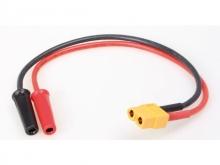 ISDT Lade-Adapterkabel XT60 Buchse --> Bananenkupplung
