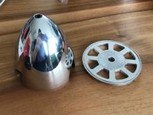 Alu-Spinner 88mm für Zentral-Aufnahme, 3-Blatt, poliert - by Miracle
