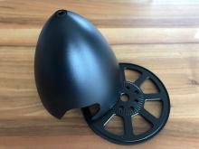 Alu-Spinner 102mm für Zentral-Aufnahme, 3-Blatt, schwarz - by Miracle