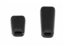 JETI Schalterkappen - schwarz (1x kurz, 1x lang)