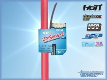 SM Modellbau UniSens-E  55A mit 1.5mm² Silikonkabel