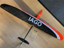 IAGO DLG, Carbon schwarz/weiss/orange (1000mm)