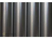 Oracover Bügelfolie, silber - Rolle 60cm x 2m