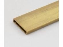 Messing Vierkantrohr 3..0/13mm, 1m, hart