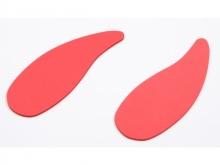 AHL Carbon Senderpult Handauflage rot, selbstklebend