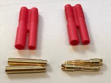 2mm Stecker/Buchsen Set vergoldet mit Verpolungsschutz