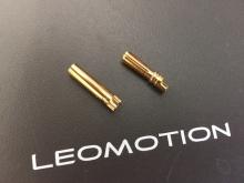 4mm Stecker/Buchsen Set NG vergoldet mit Schrumpfschlauch