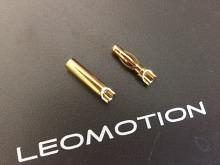4mm Stecker/Buchsen Set vergoldet mit Schrumpfschlauch
