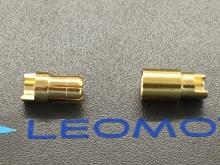 6mm Stecker/Buchsen Set vergoldet mit Schrumpfschlauch