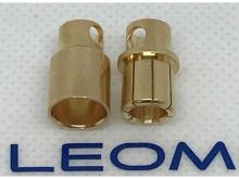8mm Stecker/Buchsen Set vergoldet