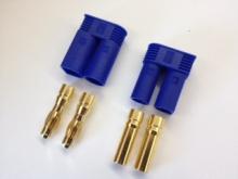 5mm Stecker/Buchsen Set vergoldet mit Verpolungsschutz (EC 5)