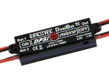 EMCOTEC DPSI Micro DualBat 5.9V/7.2V JR - Akkuweiche