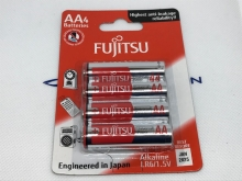 Fujitsu Batterien Einzelzellen AA, 4 Stück, Einweg