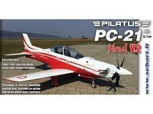 SebArt PC21 XL rot/weiss inkl. Fahrwerk (2100mm)