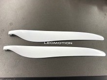 """Leomotion Carbon Propeller 17.0 x 10.0"""" (8mm) - weiss"""
