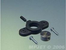 Radschuhbefestigung für Ø4mm Achse  (2 Stk,, schwarz)