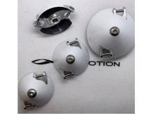 Leomotion Carbon Propeller  Spinner Scale weiss, versetzt, 45/6mm
