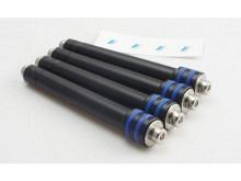 Motor-Verlängerung ∅10mm Alu, M4,  Länge 60 bis 80mm