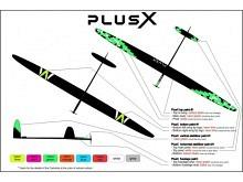 PLUS X STORM F5J  (3970mm) ab 1150g! mit IDS